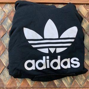 Adidas Black & White Hoodie Sweater Size Small